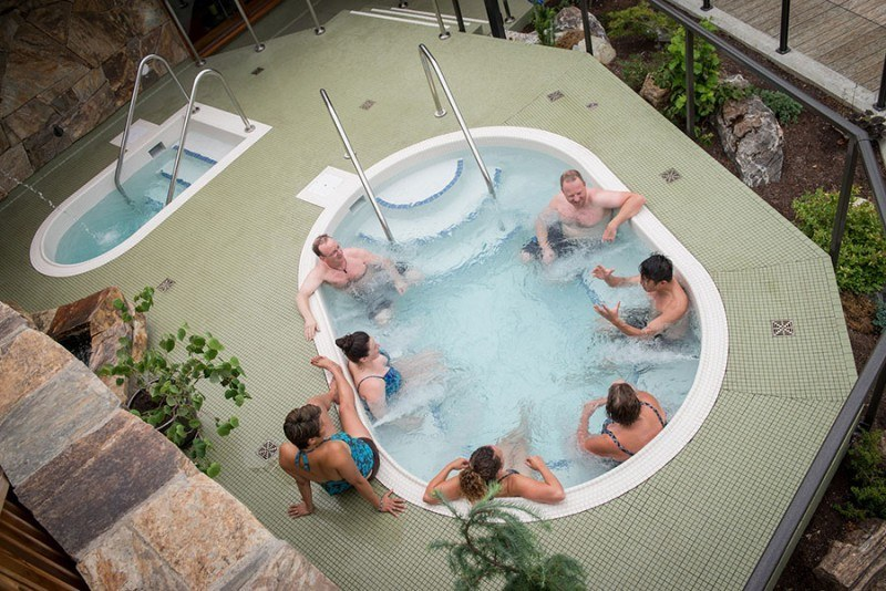 Relax In The Hot Spa & Cold Plunge