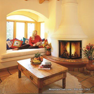 Rancho La Puerta Spa Accommodations Fireplace