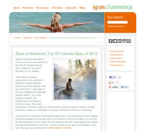Top 50 Canadian Spas