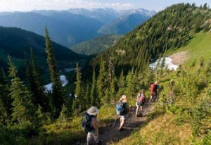 Hiking On BC Trail
