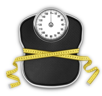 Dieting, weigh scale