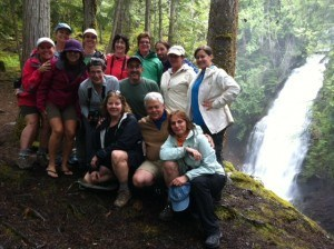 The Mountain Trek crew from this past May. Markeeta is front and centre in the black jacket