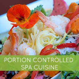 Portion Controlled Spa Cuisine