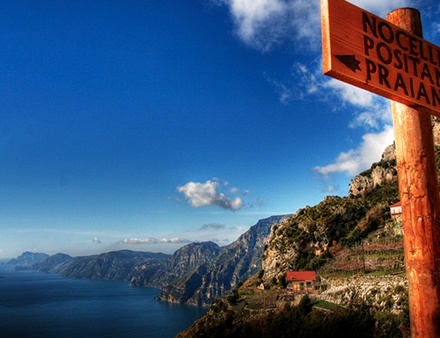 Trail Signs on the Amalfi Coast