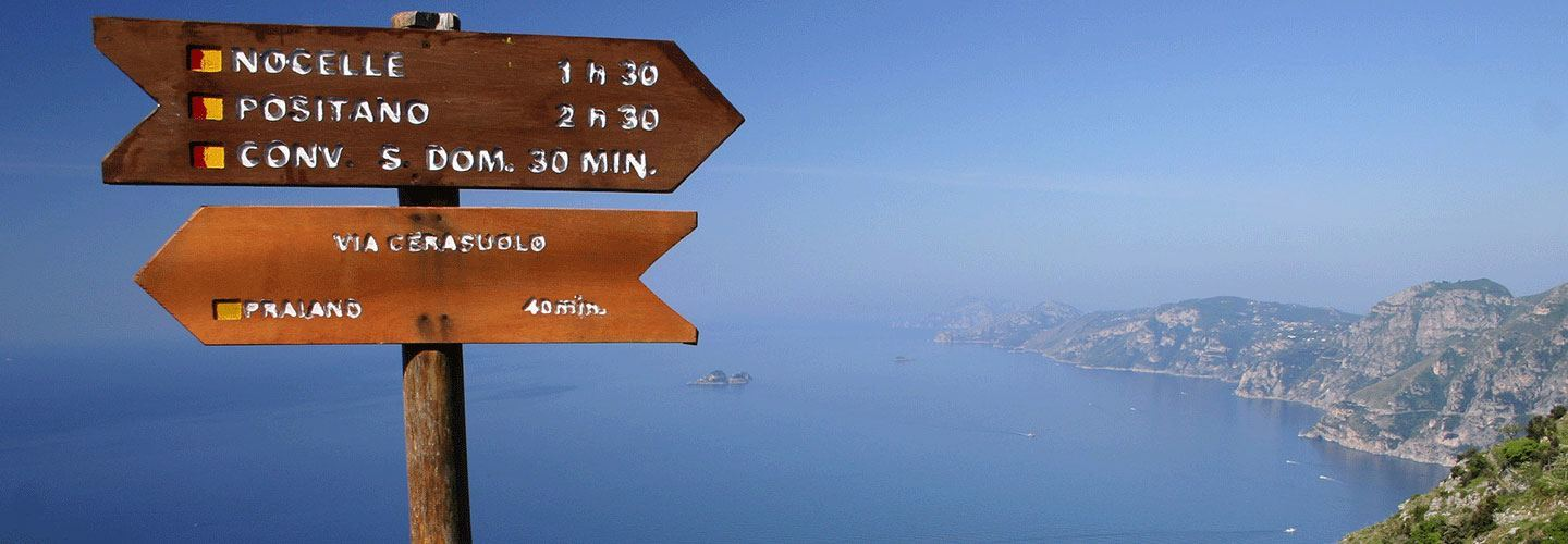 Amalfi Coast Trail Marker