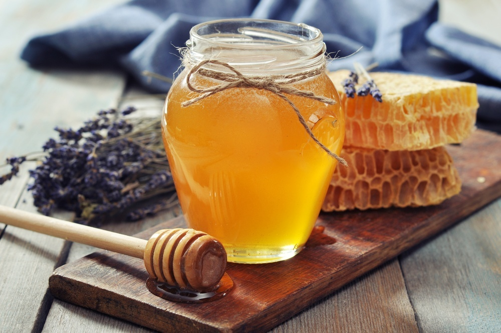 a jar of honey