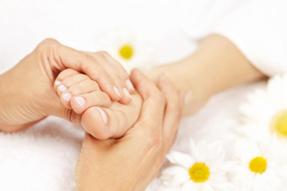 close up of a foot massage