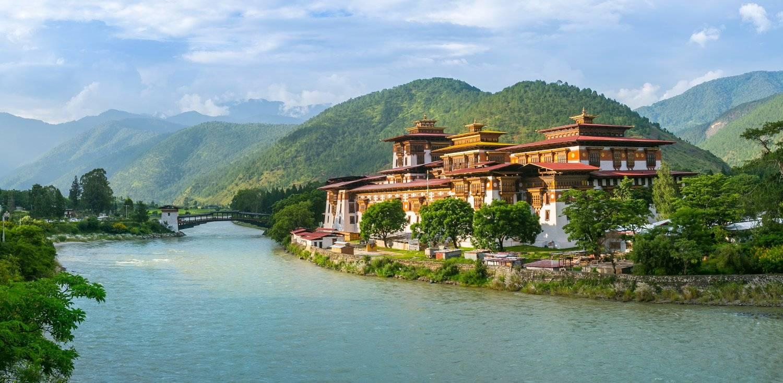 Bhutan Monastery seen on Mountain Trek Adventure Trek