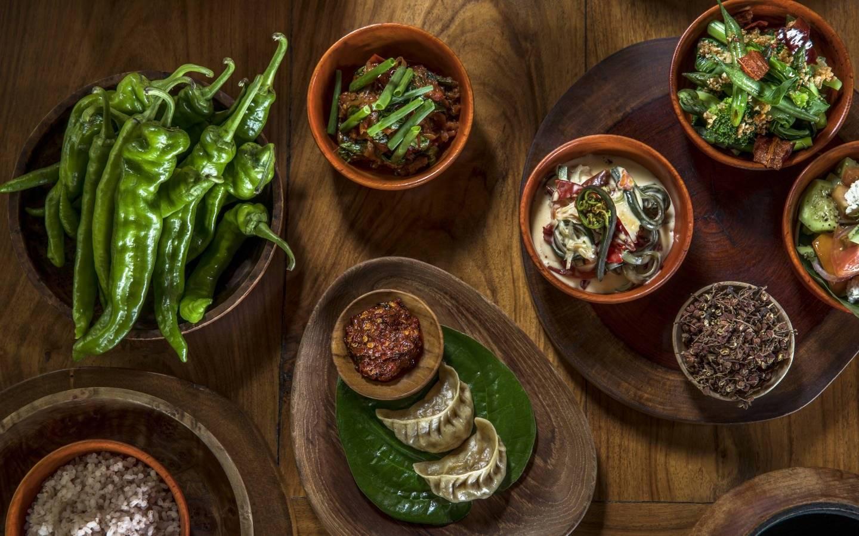 Bhutanese Healthy cooking eaten on Mountain Trek Adventure Trek