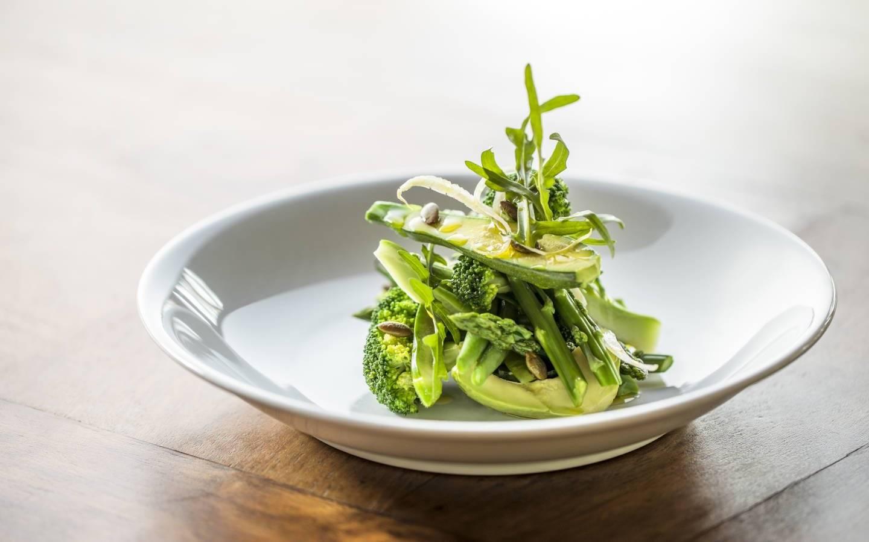 Bhutanese Healthy Salad eaten on Mountain Trek Adventure Trek