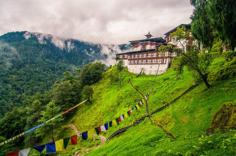 Tango Cherry Buddhist Monastery seen on Mountain Trek Adventure Trek