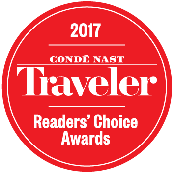 Conde Nast Readers Choice Award 2017