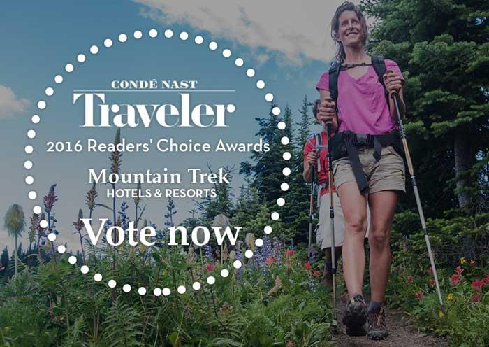 Vote For Mountain Trek in the 2016 Conde Naste Traveler Sirvey