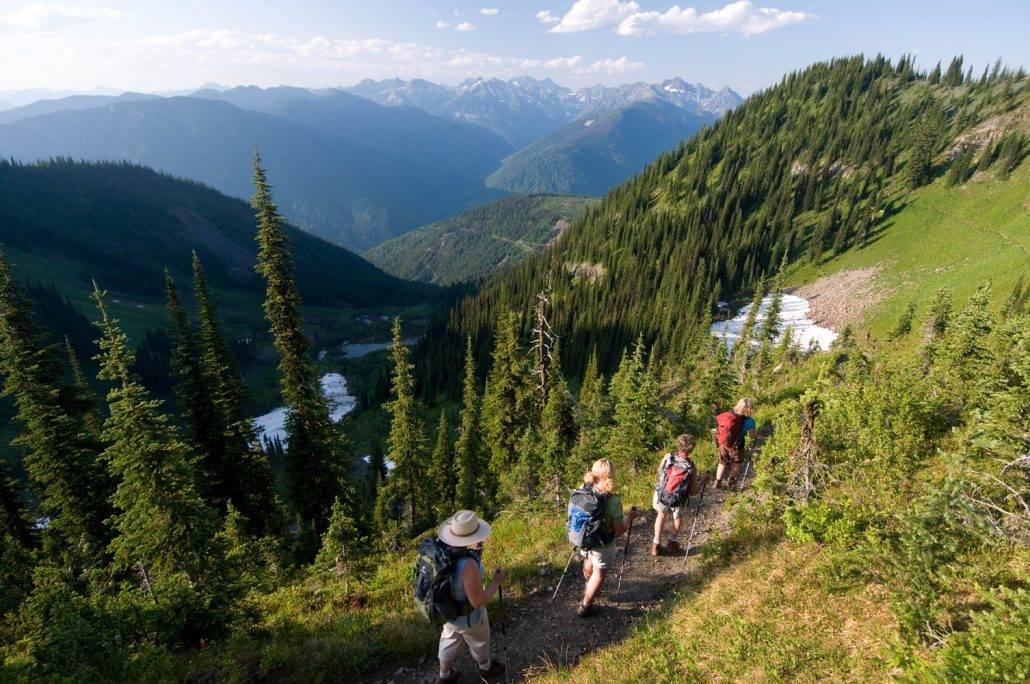 Hiking Alpine glaciers at Mountain Trek Lodge & Spa
