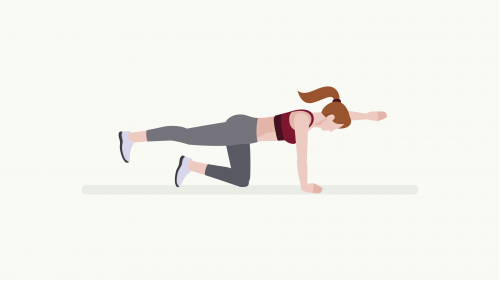 illustration of a person executing alternating knee raises pose exercise