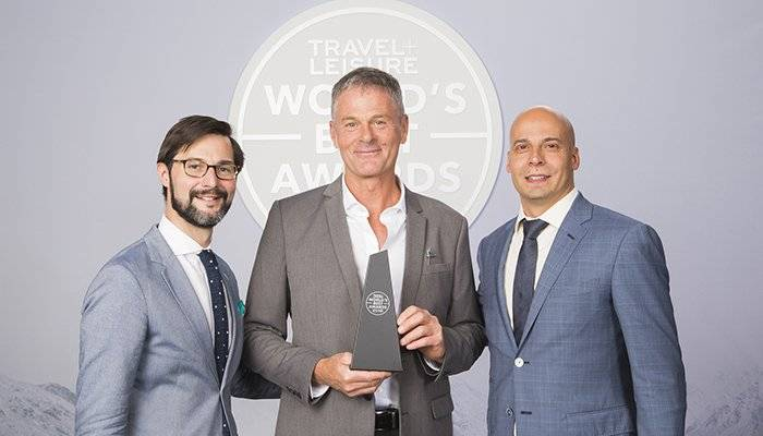 Kirkland Shave with Nathan Lump and Joseph Messer of Travel + Leisure at the Travel + Leisure World's Best Awards in NYC on July 20th.