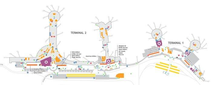 Click for a larger map of the San Diego Airport