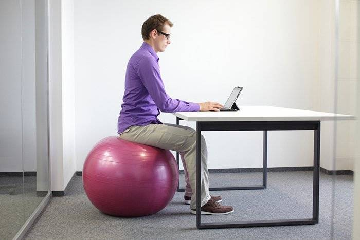 Sitting-on-a-ball-in-an-office
