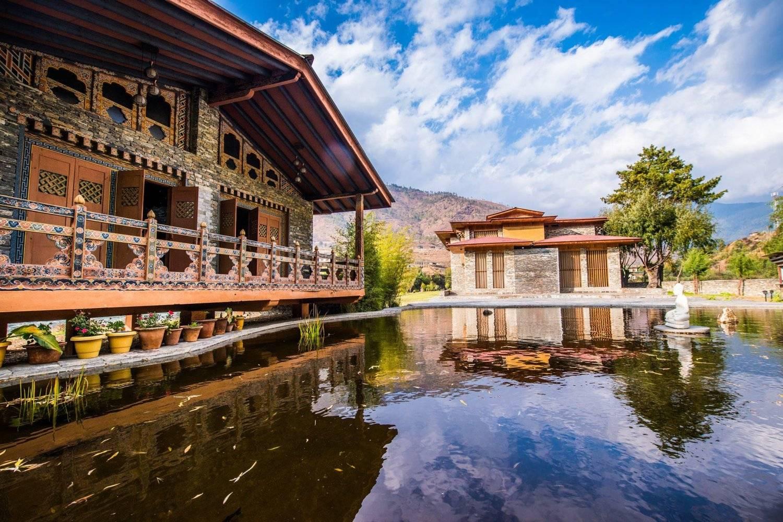 Terma Linca Hotel Grounds seen on Mountain Trek Adventure Trek