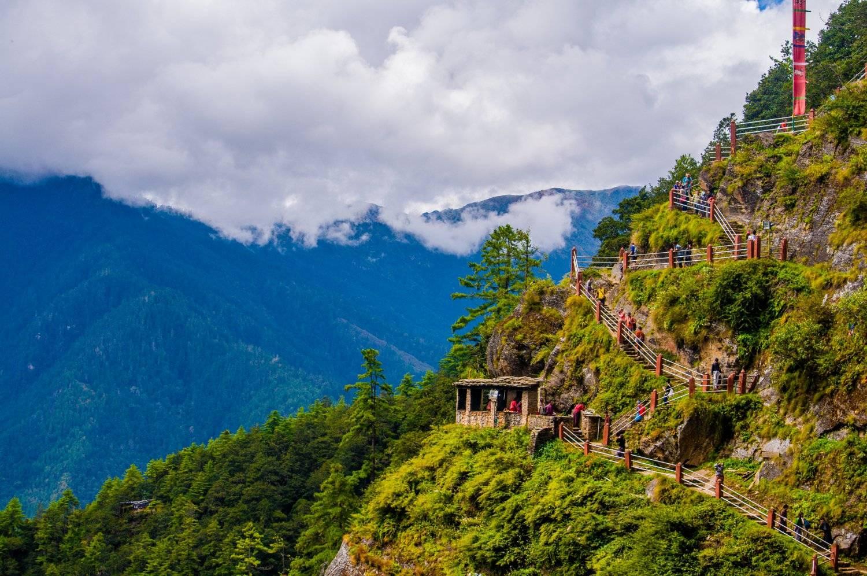 The Trekking path to Tiger's Nest Temple Mountain Trek Adventure Trek
