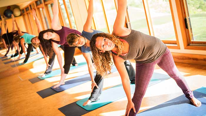 Yoga at the Mountain Trek Lodge in British Columbia
