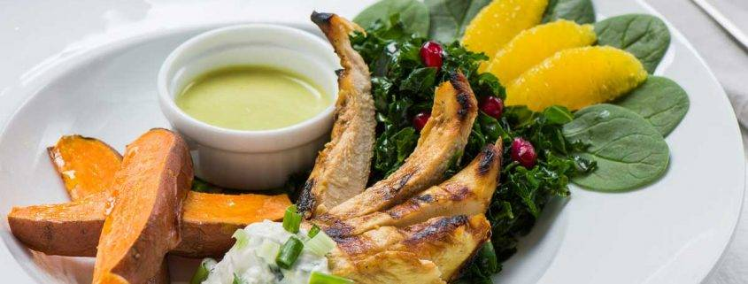 Yogurt Marinated Chicken with Massaged Kale