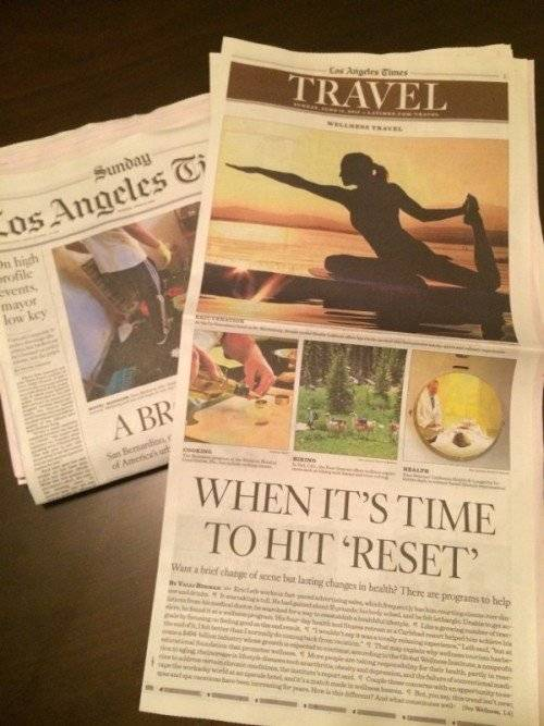la times features mountain trek
