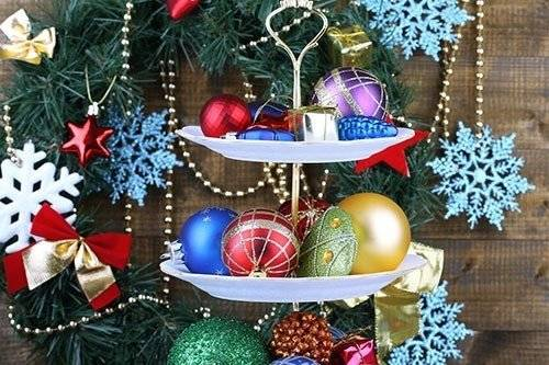 serving-dish-full-of-christmas-ornaments