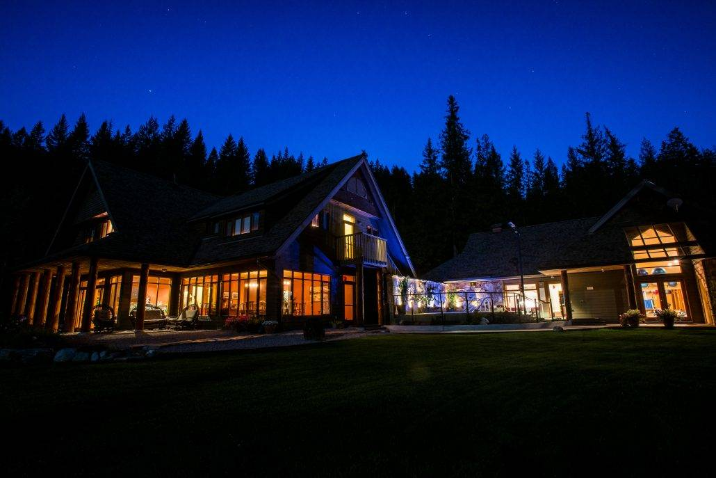 Mountain Trek Fitness Retreat and Spa at Night